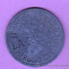 Monedas locales: CHAPA COOPERATIVA FICHA - LADISLAO LLACER - LA-RO-PE BORNE Nº 99 BARCELONA MERCADO CENTRAL. Lote 49634911