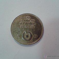 Monedas locales: EXPO 92 SEVILLA, FICHA DEL PABELLON DE SUECIA. Lote 49711816