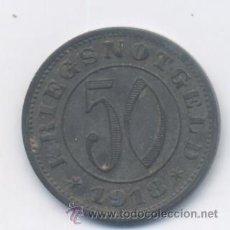 Monnaies locales: ALEMANIA- 50 KRIEGSNOTGELD-1918-KREISHAUPTSTADT REUTLINGEN. Lote 50021857