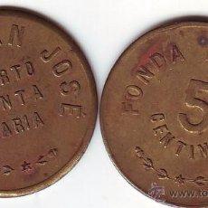 Monedas locales: FICHA FONDA POPULAR EL PUERTO DE SANTA MARIA 5 CTMS.. Lote 50371665