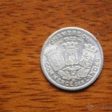 Monedas locales: CAMARA DE COMERCIO DE LAS LANDAS- 5 CENT- 1922. Lote 50596603