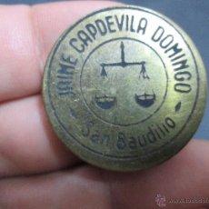 Monedas locales: FICHA COMERCIAL JAIME CAPDEVILA DOMINGO = SAN BAUDILIO. Lote 50763271