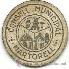 Monedas locales: (JX-09E)CONSELL MUNICIPAL DE MARTORELL,10 CTS. Lote 51039271