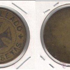 Monedas locales - FICHA DE 2 PESETAS DE ANTONIO LLADÓ. (C20). - 51061444