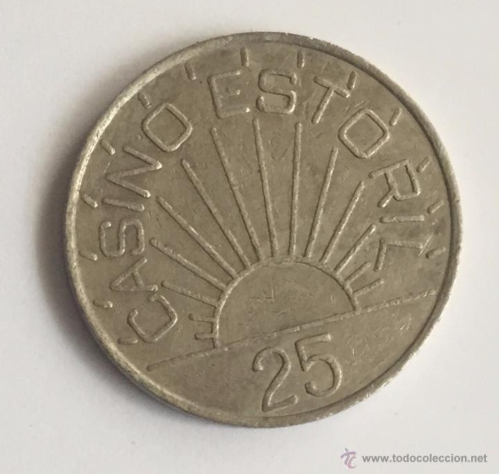 FICHA CASINO ESTORIL - 25 (Numismática - España Modernas y Contemporáneas - Locales y Fichas Dinerarias y Comerciales)