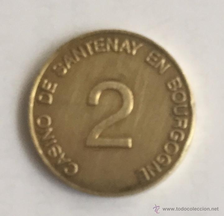 CASINO DE SANTENAY - 2 - BOURGONNE (Numismática - España Modernas y Contemporáneas - Locales y Fichas Dinerarias y Comerciales)