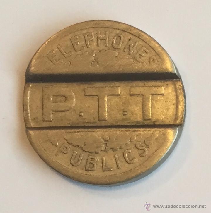 Monedas locales: FICHA TELEFONO FRANCIA - 1937 - P.T.T. - Foto 2 - 51092409