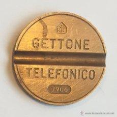 Monedas locales: GETTONE TELEFÓNICO - ITALIA - FICHA TELÉFONO - 7906. Lote 51107051