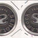 Monedas locales: C129R-FICHA.FESTIVALSENGLAROCK.LLEIDA.20. (C129).. Lote 51107604