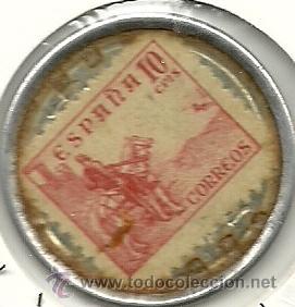 Monedas locales: (FCP-18)FICHA DE 10 CTS.AGUA VALL-PAR - Foto 2 - 51137755