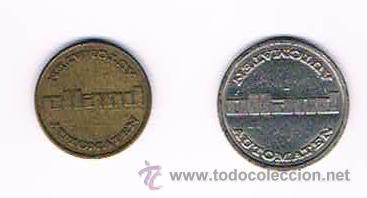 LOTE DOS FICHAS DINERARIAS MONEDA EMPRESA AUTOMATEN HOLLAND DINERO COMERCIAL (Numismática - España Modernas y Contemporáneas - Locales y Fichas Dinerarias y Comerciales)
