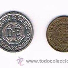 Monedas locales: LOTE DOS FICHAS DINERARIAS MONEDA EMPRESA DOUWE EGBERTS DINERO COMERCIAL. Lote 51563121