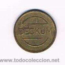 Monedas locales: FICHA DINERARIA MONEDA EMPRESA BECKUM DINERO COMERCIAL. Lote 51563478
