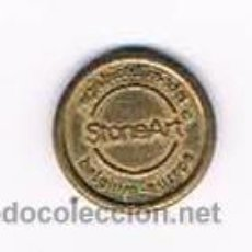 Monedas locales: FICHA DINERARIA MONEDA EMPRESA STONEART REGISTERED MODEL DINERO COMERCIAL. Lote 51563774