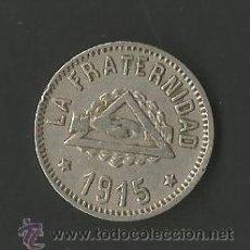 Monedas locales: COOPERATIVA LA FRATERNIDAD - BARCELONETA - 1 PESETA - 1915. Lote 51675179