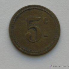 Monedas locales: FICHA 5 C.DIÁMETRO: 21 MM.. Lote 52649010