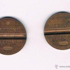 Monedas locales: LOTE 2 FICHAS DINERARIAS MONEDA EMPRESA GETTONE DINERO COMERCIAL FICHA TELEFÓNICA. Lote 52734513