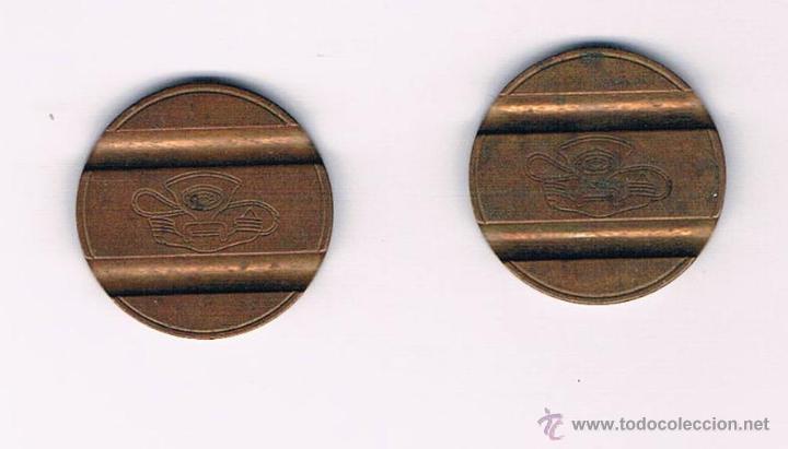 Monedas locales: LOTE 2 FICHAS DINERARIAS MONEDA EMPRESA GETTONE DINERO COMERCIAL FICHA TELEFÓNICA - Foto 2 - 52734513