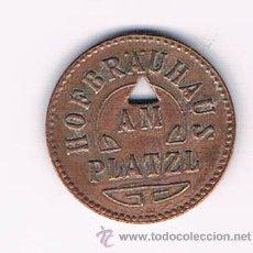 Monedas locales: FICHA DINERARIA MONEDA HOFBARAUAUS AM PLATZL EMPRESA DINERO COMERCIAL RARA. Lote 52734789