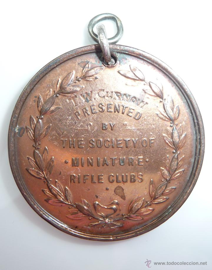 Monedas locales: MEDALLA **THE BELL MEDAL**T. W. CURNOW. GRAN BRETAÑA. THE SOCIETY OF MINIATURE RIFLE CLUB - Foto 3 - 52909750
