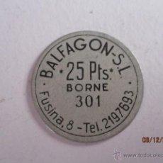 Monedas locales: FICHA DE BALFAGON SL, 25 PTS, BORNE, BARCELONA. Lote 57731770