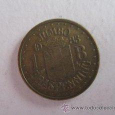 Monedas locales: FICHA: JUMBO 1983. Lote 53209103
