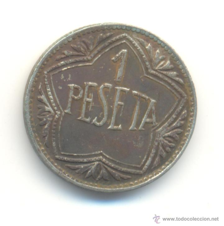 Monedas locales: 14- FICHA DE CASINO VALOR: UNA PESETA. - Foto 2 - 53237529