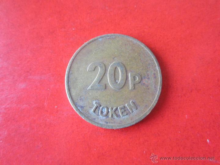 Monedas locales: Ficha de 20 pence inglesa - Foto 2 - 53481281