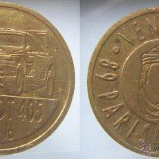 Monedas locales: FICHA O TOKEN PEUGEOT 405 PARIS DAKAR 89. Lote 53499648