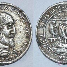 Monedas locales: BONITA FICHA TOKEN JETON C. **BATEAUX PARISIENS**. FLUCTUAT NEC MERBITURE. 20 MM. Lote 53593023