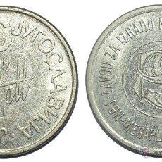 Monedas locales: MUY BONITA FICHA TOKEN JETON **IZRADU-YUGOSLAVIA**. DIÁMETRO: 27 MM. Lote 53593094