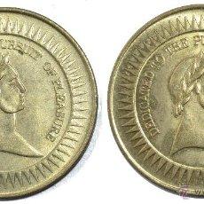 Monedas locales: CURIOSA FICHA TOKEN JETON. DIÁMETRO 29 MM. DEDICATED **TO THE PURSUIT OF PLEASURE**. Lote 53609961