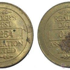 Monedas locales: FICHA TOKEN JETON **READERS DIGEST****04254**ASSOCIATION LIMITED**. DIÁMETRO 30 MM. Lote 53610263