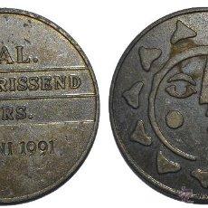 Monedas locales: BONITA FICHA TOKEN JETON **VERFRISSEND ANDERS**- HOLANDA. AÑO 1991. DIÁMETRO 30 MM. Lote 53610371