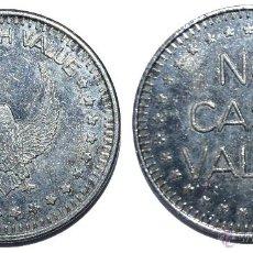 Monedas locales: FICHA JETON TOKEN **NO CASH VALUE** DIÁMETRO 24 MM. A IDENTIFICAR. Lote 53610833