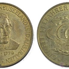 Monedas locales: FICHA TOKEN **JETON JAMES COOK**. DIÁMETRO 29 MM. SERIE NAVEGANTES. Lote 53623974
