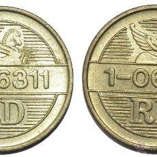Monedas locales: FICHA TOKEN JETON **RD 1-06311**. DIÁMETRO 22 MM. Lote 53899022