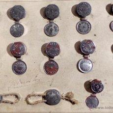 Monedas locales: COLECCIÓN, MUESTRARIO DE ANTIGUOS PRECINTOS SIN USAR. Lote 54680656