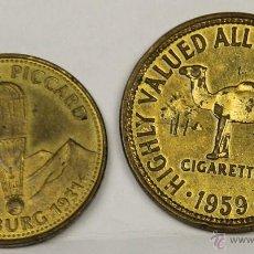 Monedas locales: MO-146 - COLECCIÓN 2 MONEDAS EN LATÓN,CAMEL Y SHELL. 1931-1959. 20 CAMEL.. Lote 50618019