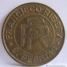 Monedas locales: MONEDA FRANCISCO RIBERA. 3,50 CM. Lote 54848923