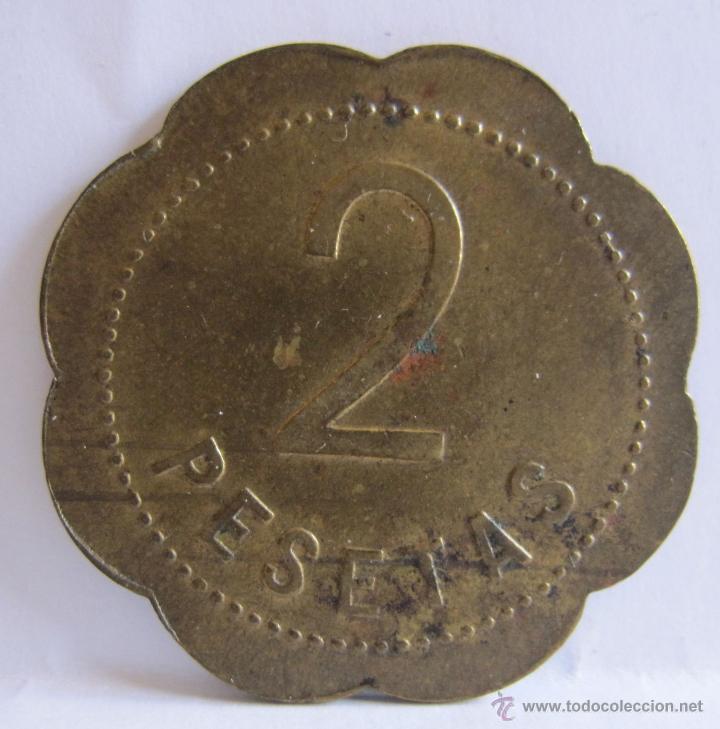 Monedas locales: MONEDA EMPRESA.BOHIGAS. FRUTAS & hortalizas. mercado central, 63. Barcelona. 3 cm - Foto 2 - 54849107