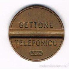 Monedas locales: FICHA TELEFÓNICA, MUY BIEN CONSERVADA, COBRE O BRONCE, NUMERADA, VER FOTOS. Lote 55518945