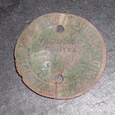 Monedas locales: FICHA ANTIRÁBICA 1963 ALCANTARA 71 MADRID. Lote 56052946