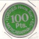 Monedas locales: FICHA DE TORRES HNOS. SUC. DE 100 PESETAS EN MERCABARNA 39. SIN CIRCULAR- C114.. Lote 56232412