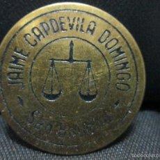 Monedas locales: FICHA COMERCIAL JAIME CAPDEVILA DOMINGO = SAN BAUDILIO. Lote 56537633