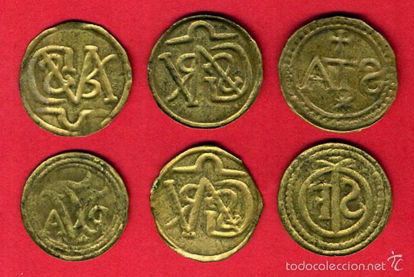 Monedas locales: LOTE DE 6 MONEDAS , PELLOFA DE GIRONA , GERONA , ORIGINAL , A6 - Foto 2 - 56571054
