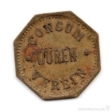 Monedas locales: FICHA . VEREIN CONSUM DÜREN, CLUB CONSUMO DÜREN. Lote 56734357