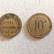 Monedas locales: MUY RARA FICHA MALLORQUINA CAFE COMERCIO SIMON GUAL. Lote 56848744