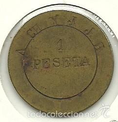 (FCP-63)FICHA 1 PTS.SANTIESTEBAN DEL PUERTO (Numismática - España Modernas y Contemporáneas - Locales y Fichas Dinerarias y Comerciales)