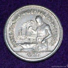 Monedas locales: MONEDA DE 50 CTS. CONSEJO DE SANTANDER, PALENCIA Y BURGOS. GUERRA CIVIL-REPUBLICA. 1937. ORIGINAL. Lote 57130093